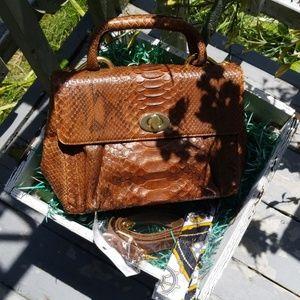 Besozzi Franco 100% Phyton bag Made in Italy